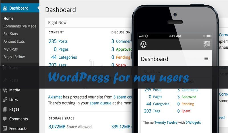 WordPress for new users…