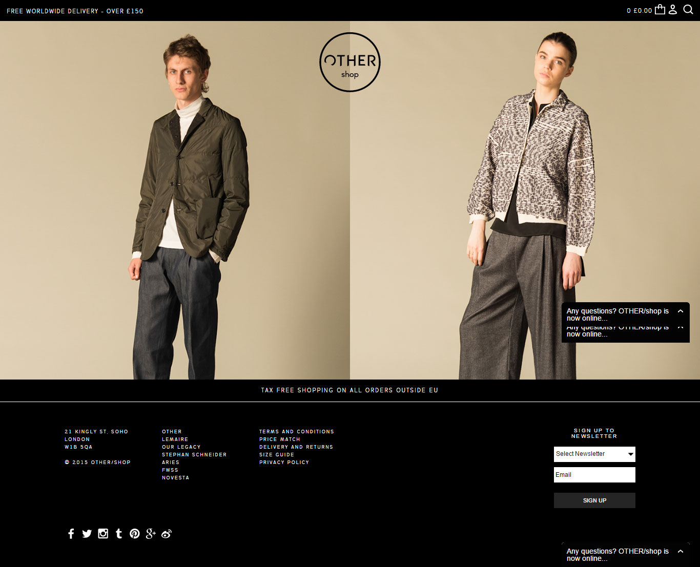 Example for Fashion Websites
