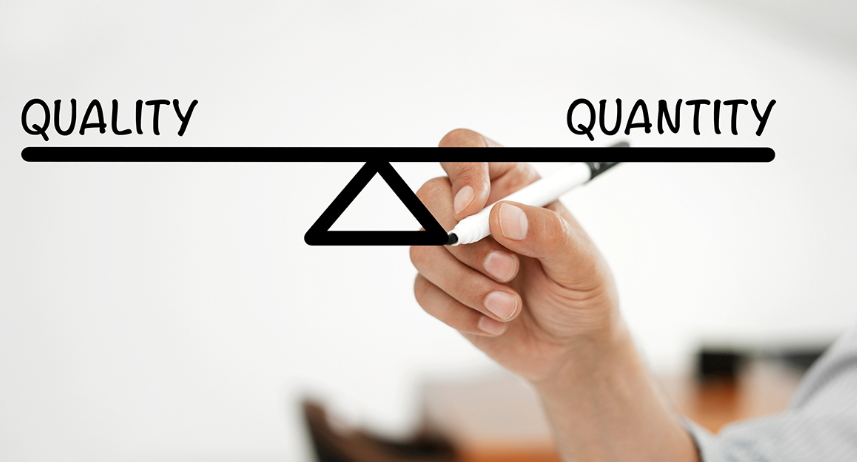 quality vs quantity in content writing