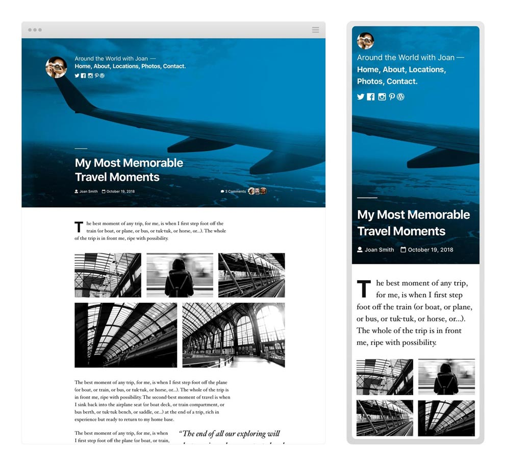 New WordPress, blog by websensepro.com